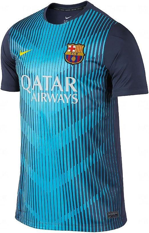 NIKE Kurzärmliges FC Barcelona Squad Pre Match Top - Camiseta/Camisa Deportiva para Hombre