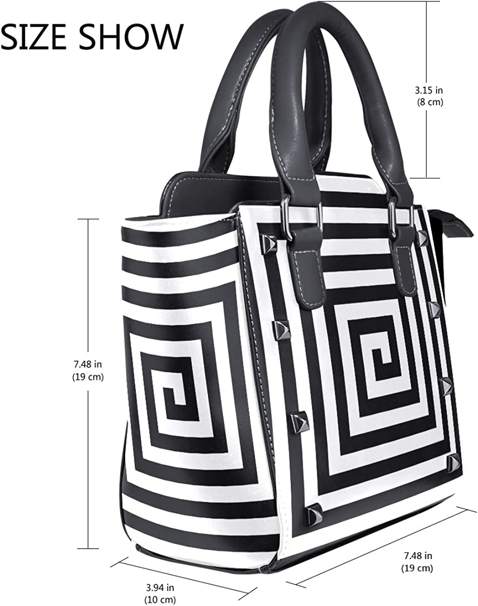 imobaby Spiral Stairs PU Leather Top-Handle Handbags Single-Shoulder Tote Crossbody Bag Messenger Bags For Women