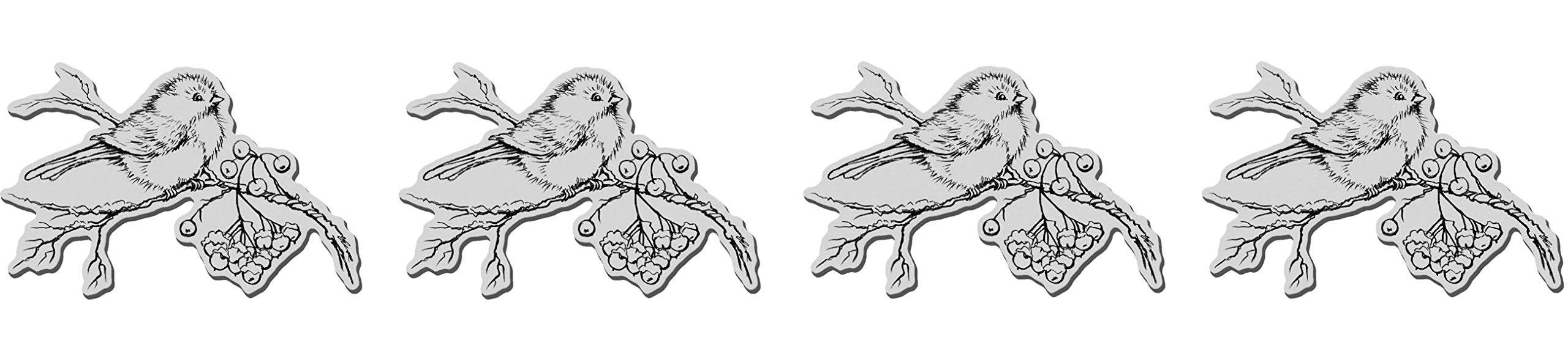 STAMPENDOUS Christmas Cling Rubber Stamp-Snow Bird (4-(Pack))