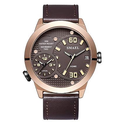 Blisfille Reloj 45Mm Relojes Juveniles Reloj Acero Hombre Reloj Digital Sumergible Hombre Reloj King y Queen