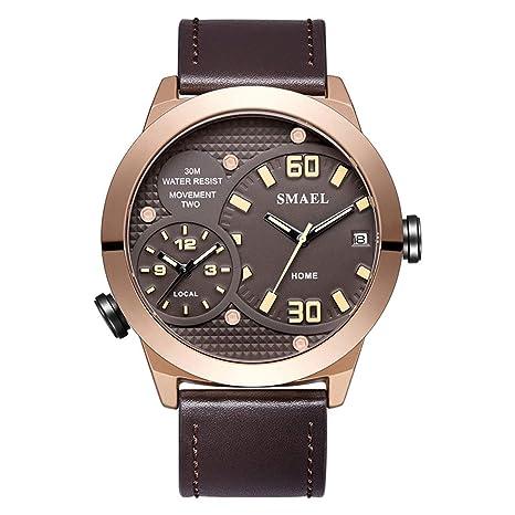 Blisfille Reloj 45Mm Relojes Juveniles Reloj Acero Hombre Reloj Digital Sumergible Hombre Reloj King y Queen: Amazon.es: Deportes y aire libre