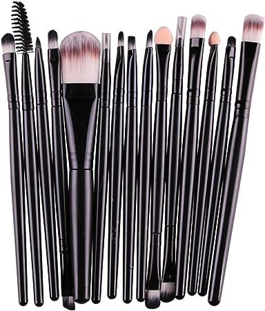 Da.Wa Brochas Maquillaje Profesional Set de brochas Profesionales para Maquillaje Kit 15 Piezas 20cm*15cm*2cm: Amazon.es: Hogar
