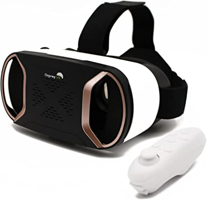 Amazon Com Vr Headset With Wireless Remote Virtual Reality Headset Goggles For Iphone Samsung Android Phone Wireless Augmented Reality 3d Experience Best Kids Phone Accessories Blue Light Protection Home