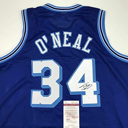 online store 5d2dc 2a778 Autographed/Signed SHAQUILLE SHAQ O'NEAL Los Angeles Lakers ...