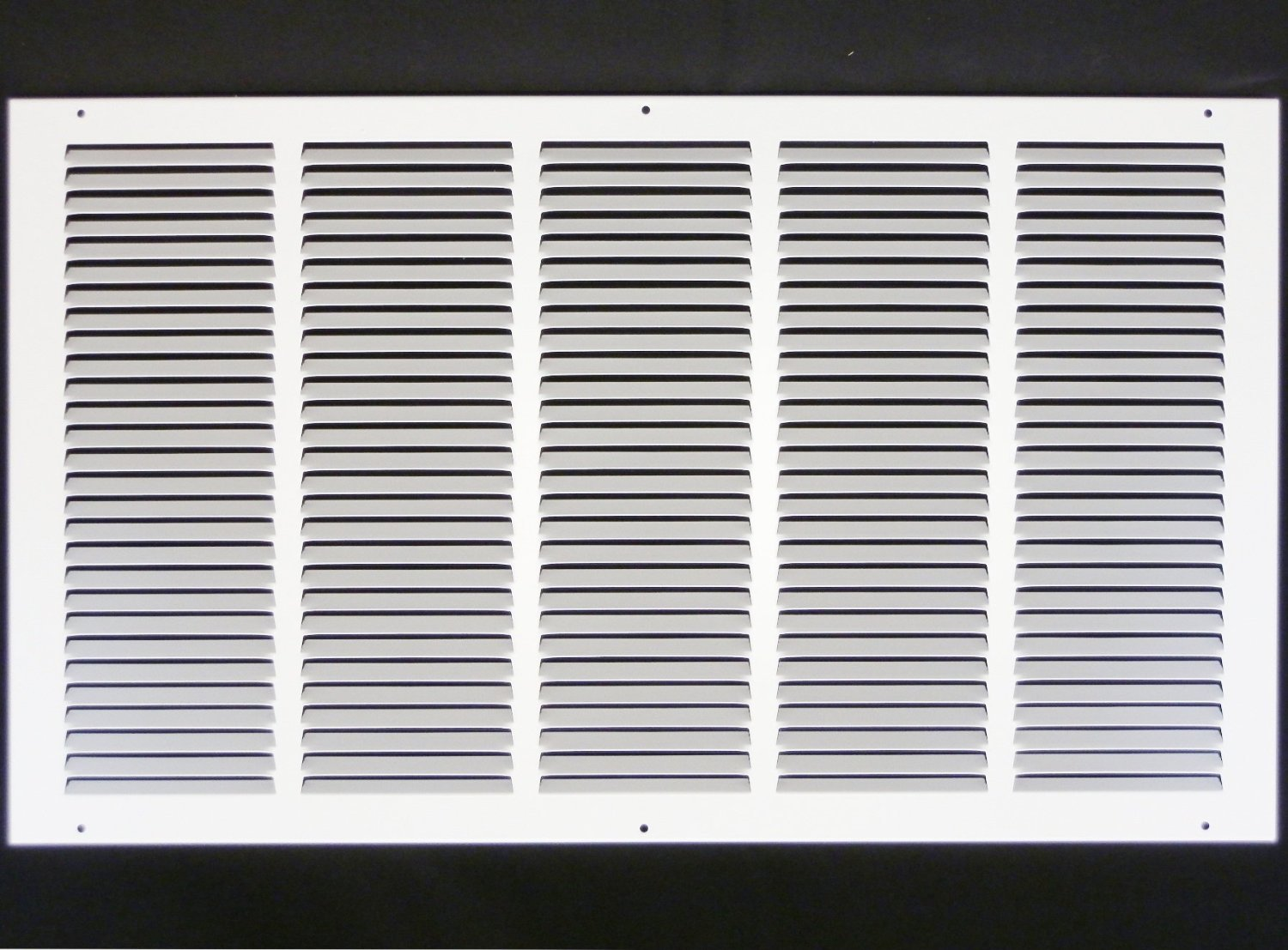 25''w X 14''h Steel Return Air Grilles - Sidewall and Cieling - HVAC DUCT COVER - White [Outer Dimensions: 26.75''w X 15.75''h]