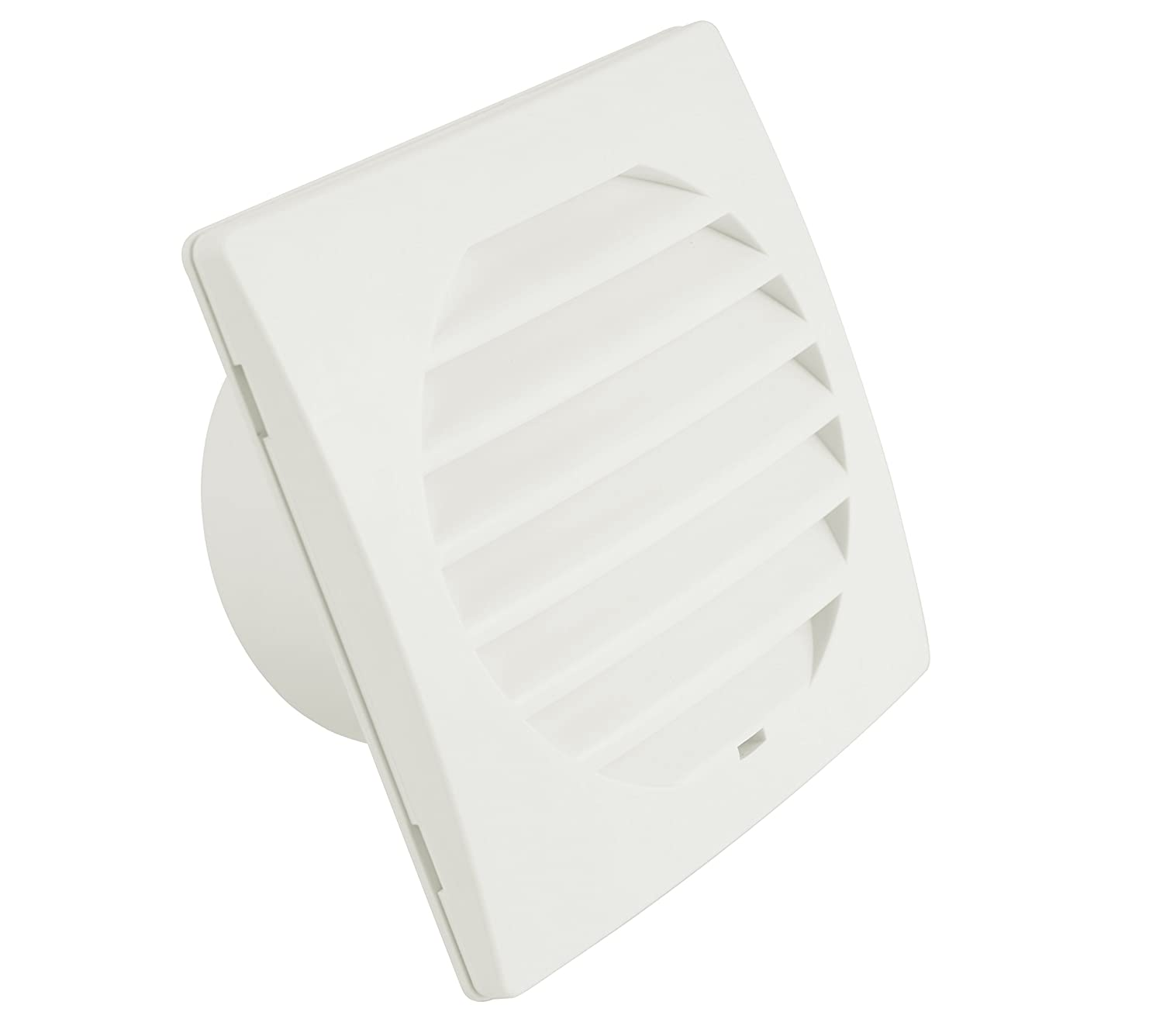 Hon&Guan 4' Plastic Air Duct Cover Square Ventilation Vent Inlet Oulet 150*150mm - ABS