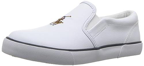 Ralph Lauren Bal Harbour II, Mocasines Chica, Blanco (White Tumbled 000), 20 EU: Amazon.es: Zapatos y complementos