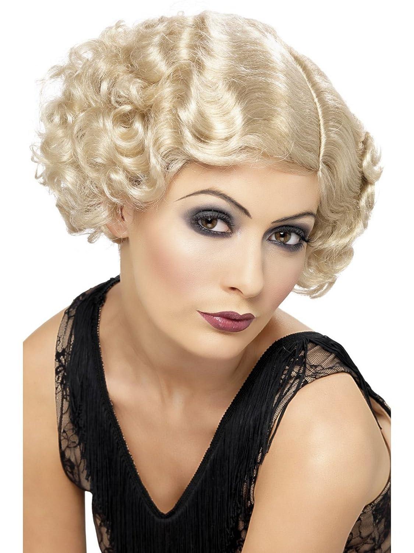 20s Flirty Flapper Wig Charleston Bugs Malone Gatsby Fancy Dress Costume BLONDE by Star55