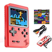 Imponigic Handheld Game Console Retro Mini Game Player with 500 Classical FC Games Double Players Mode Support Connect TV