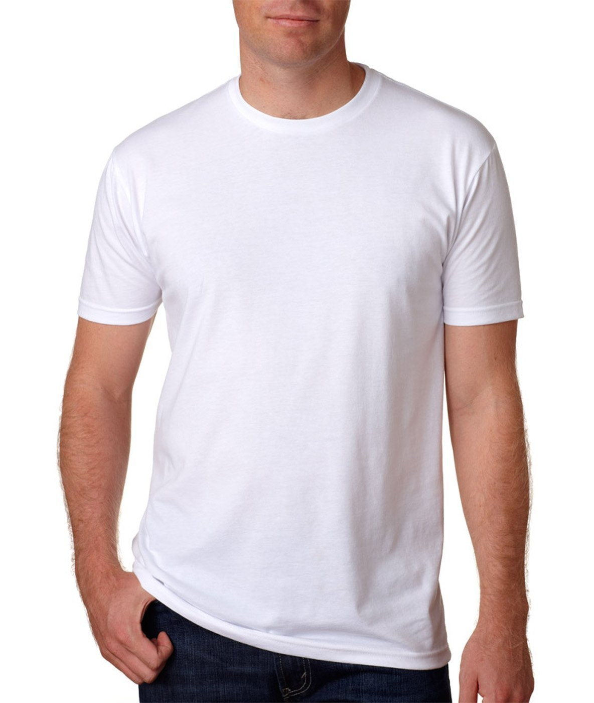 Next Level Premium Fitted CVC Crew Tee White XX-Large (Pack 5)