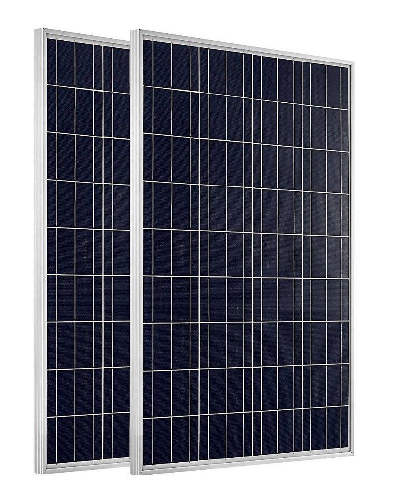 ECO-WORTHY 200W 2 Stücke 100W 12v Solarmodul Polykristallin Solarpanel Photovoltaik Solarzelle Ideal zum Aufladen von 12V 24V Batterien