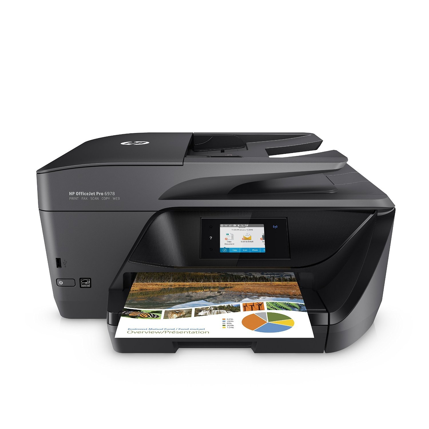 HP OfficeJet Pro 6978 All-in-One Wireless Printer with Mobile Printing, HP Instant Ink & Amazon Dash Replenishment ready (T0F29A)