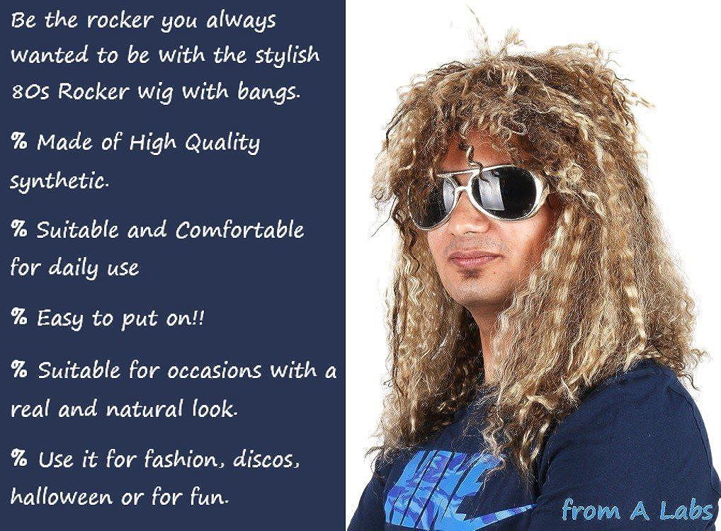 #1Quality 80s Rocker Wig Heavy Metal Rockstar Costume wig