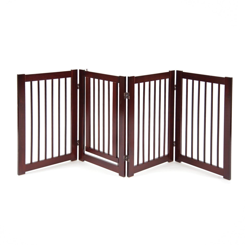 Primetime Petz 360 Configurable Dog Gate with Door - Indoor Freestanding Walk Through Wood Pet Gate by Primetime Petz