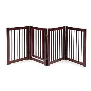 Primetime Petz 360 Configurable Dog Gate with Door – Indoor Freestanding Walk Through Wood Pet Gate