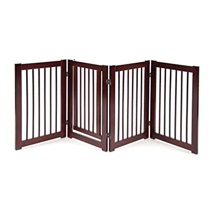 Primetime Petz 360 Configurable Dog Gate With Door U2013 Indoor Freestanding  Walk Through Wood Pet Gate