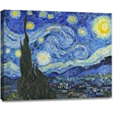 Amazon Price History for:Donglin Art-Starry Night by Vincent Van GoghOil Paintings Poster for Living Room and Bedroom Wall Art Decor Stretched and Wrapped Giclee Prints Ready to Hang (16 x 20 inches, Night-- with frame)