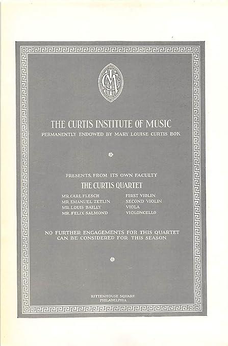 Amazon com: Print Ad 1926 Curtis Institute Music Permanently