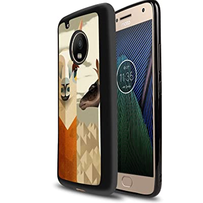 Case for Moto G5, Glossy Light Fashion Protective Cover Printing Designed Alpaca