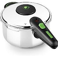 Monix Presto Olla a presión, 4 litros, acero inoxidable apto para todo tipo de cocina incluida…