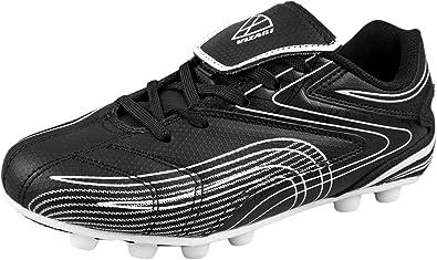 Vizari Striker FG Soccer Shoe Toddler//Little Kid//Big Kid Black//Silver