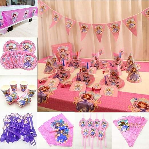 82p / set Princesa Sofía Fiesta de cumpleaños Suministros ...