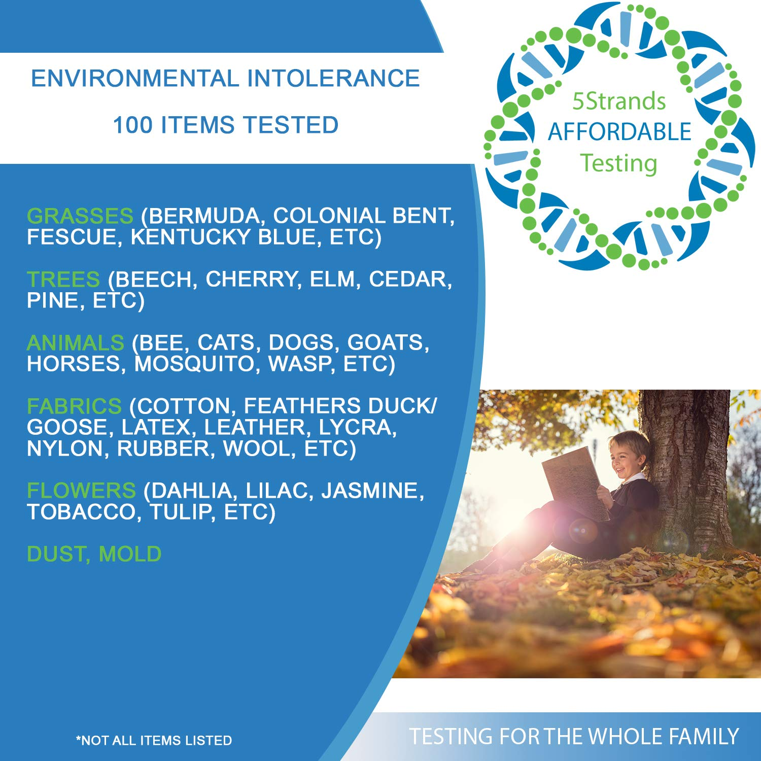 5Strands | Affordable Allergy & Intolerance Adult Test | at Home Environmental & Food Intolerance Kit | Tests for Over 350 Sensitivities & Allergens | Hair Analysis | Results in 1-2 Weeks | 1 Pack by 5Strands (Image #7)