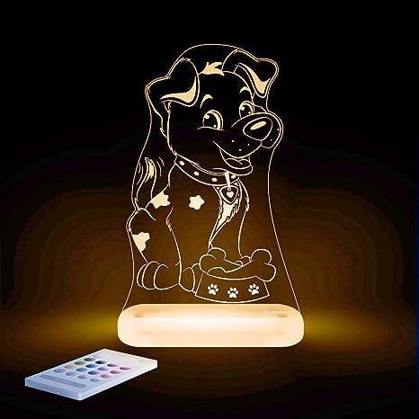aloka perro Diseño Luz nocturna – Habitación de los Niños Baby Bombilla LED cambio de color