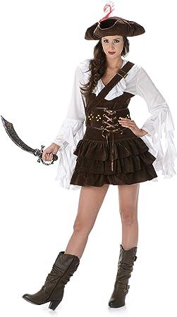 Generique - Disfraz de Pirata Mujer marrón S: Amazon.es: Juguetes ...