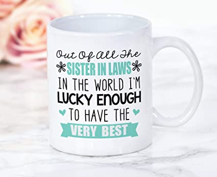 Amazon Coffee Mug Sister In Law Gift For Her