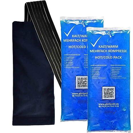 4 piezas 12 cm x 29 cm + 2 funda de lana Premium Compresión fría Compresión múltiple Reutilizable Coolpack Microondas adecuadas