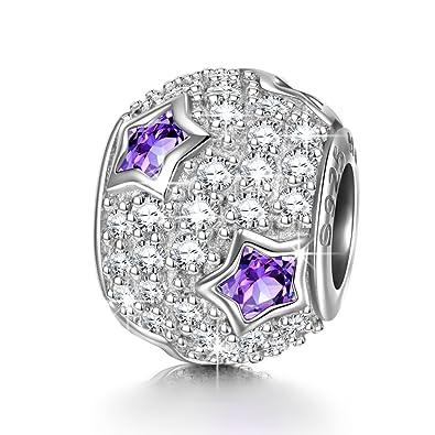 NINAQUEEN Charm Encaja con Pandora Púrpura Estrella Regalos ...