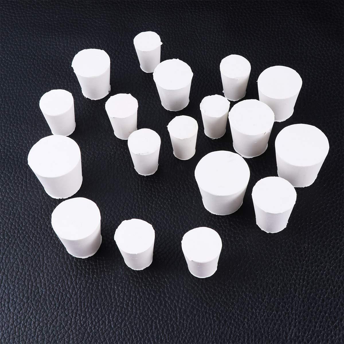 UKCOCO 18 St/ücke Gummi Reagenzglas Stopper f/ür Labor Erlenmeyer Kolben Stopfen Stopfen