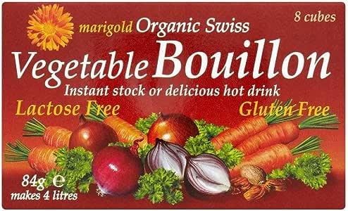 Marigold Cubo De Caldo Vegetal Orgánico Suizo (8X10.5g