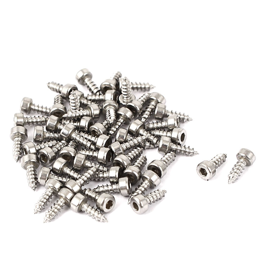 Uxcell a16032300ux0234 M2x6mm Hex Drive Head Cap Self Tapping Drilling Screws 50pcs Pack of 50