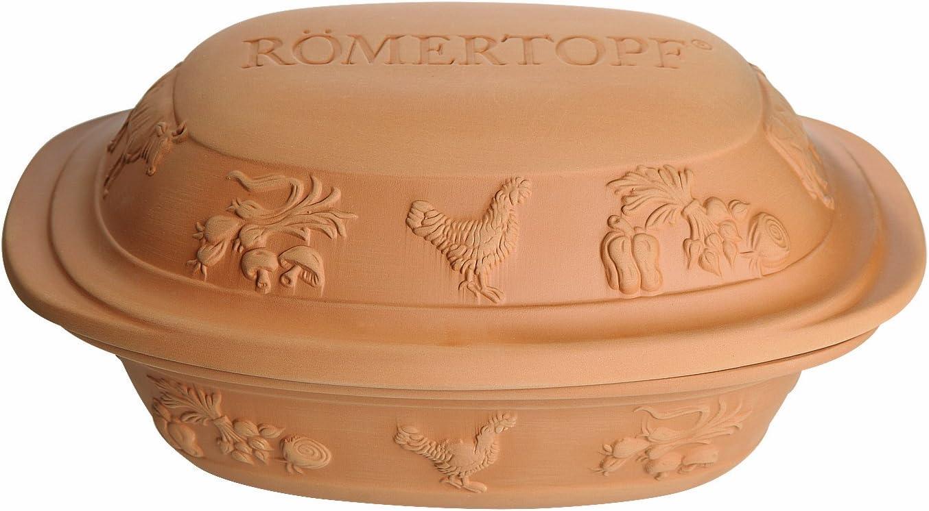 Romertopf 99119 Glazed Clay Cooker Made in Germany, Medium Rustico