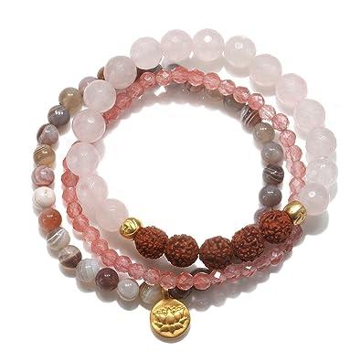 Satya Jewelry Bracelet Set Pink hWL3KY