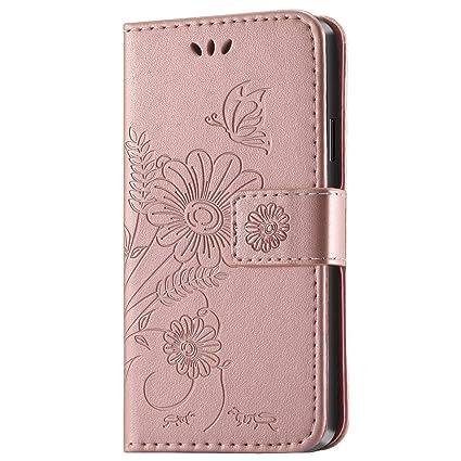 kazineer Galaxy S4 Mini Hülle, Samsung S4 Mini Handyhülle Leder Tasche Schutzhülle Blume Muster Etui für Samsung Galaxy S4 Mi