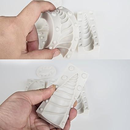 Unicornio Cuerno molde de silicona con orejas y ojos Set para Unicorn de tartas: Amazon.es: Hogar