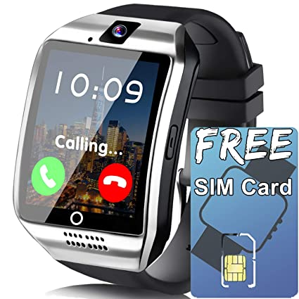 Smart Watch for Android Phones[FREE SIM 8G SD CARD],Business Touch Screen Smartwatch with Two-way Calling Texting Internet Music Player ...