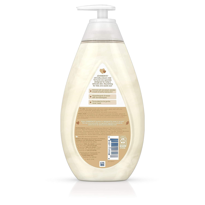 Amazon.com: Johnsons Skin - Lavado de bebé nutritivo con ...