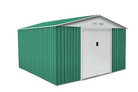 GARDIUN Caseta Metálica Bedford Verde/Blanco 11,59 m² Exterior - KIS12130