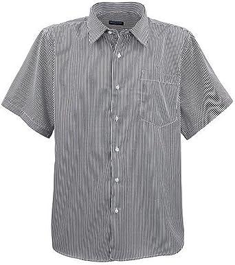 Lavecchia ¡ Más Grande Elegante Camisa de Manga Corta para Hombre HKA19-01 con Rayas Blanco/Negro XXXXXXXL: Amazon.es: Ropa y accesorios