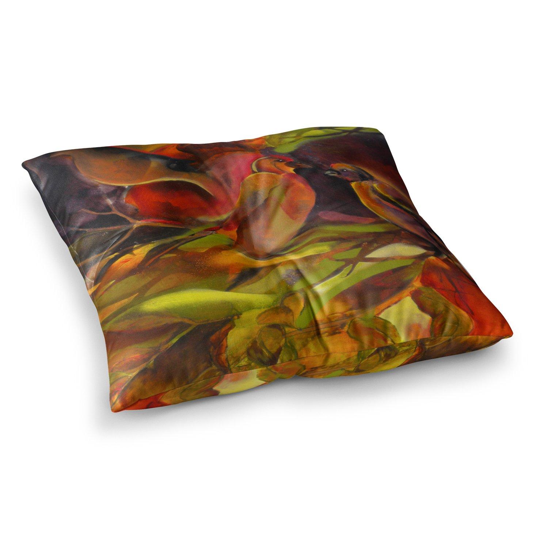23 x 23 Square Floor Pillow Kess InHouse Kristin Humphrey Mirrored in Nature
