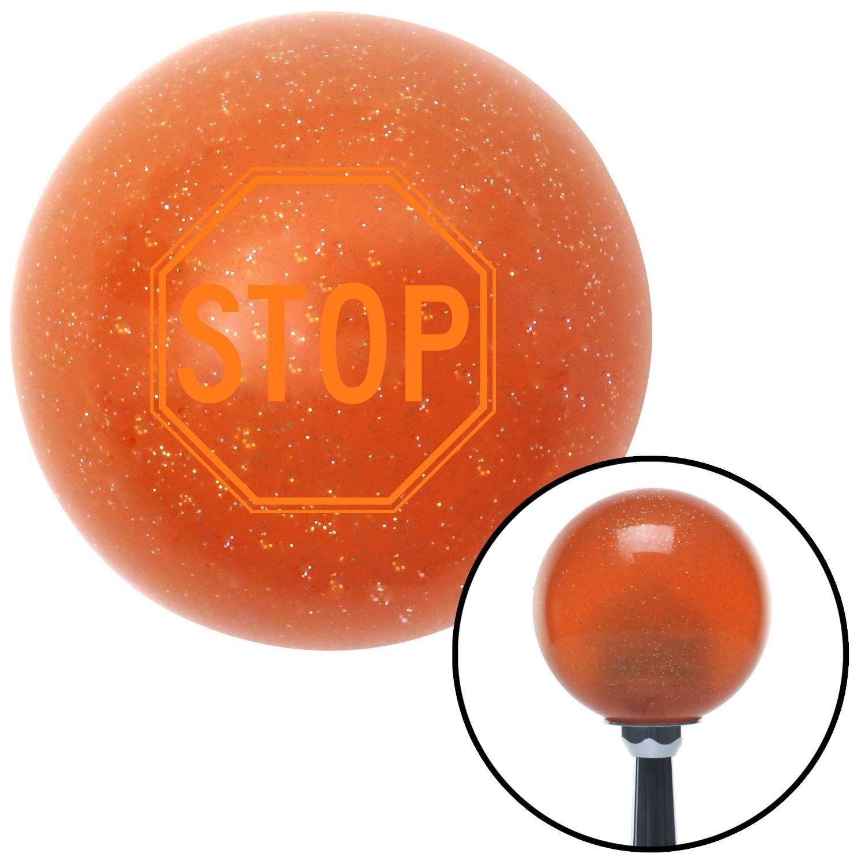 Orange Stop Sign American Shifter 42843 Orange Metal Flake Shift Knob with 16mm x 1.5 Insert