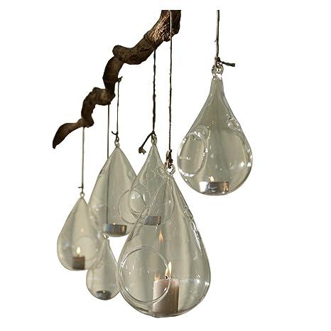 Loberon Filigrana Cristal Wind luces Tear Trop, en dos tamaños para colgar, transparente: Amazon.es: Hogar