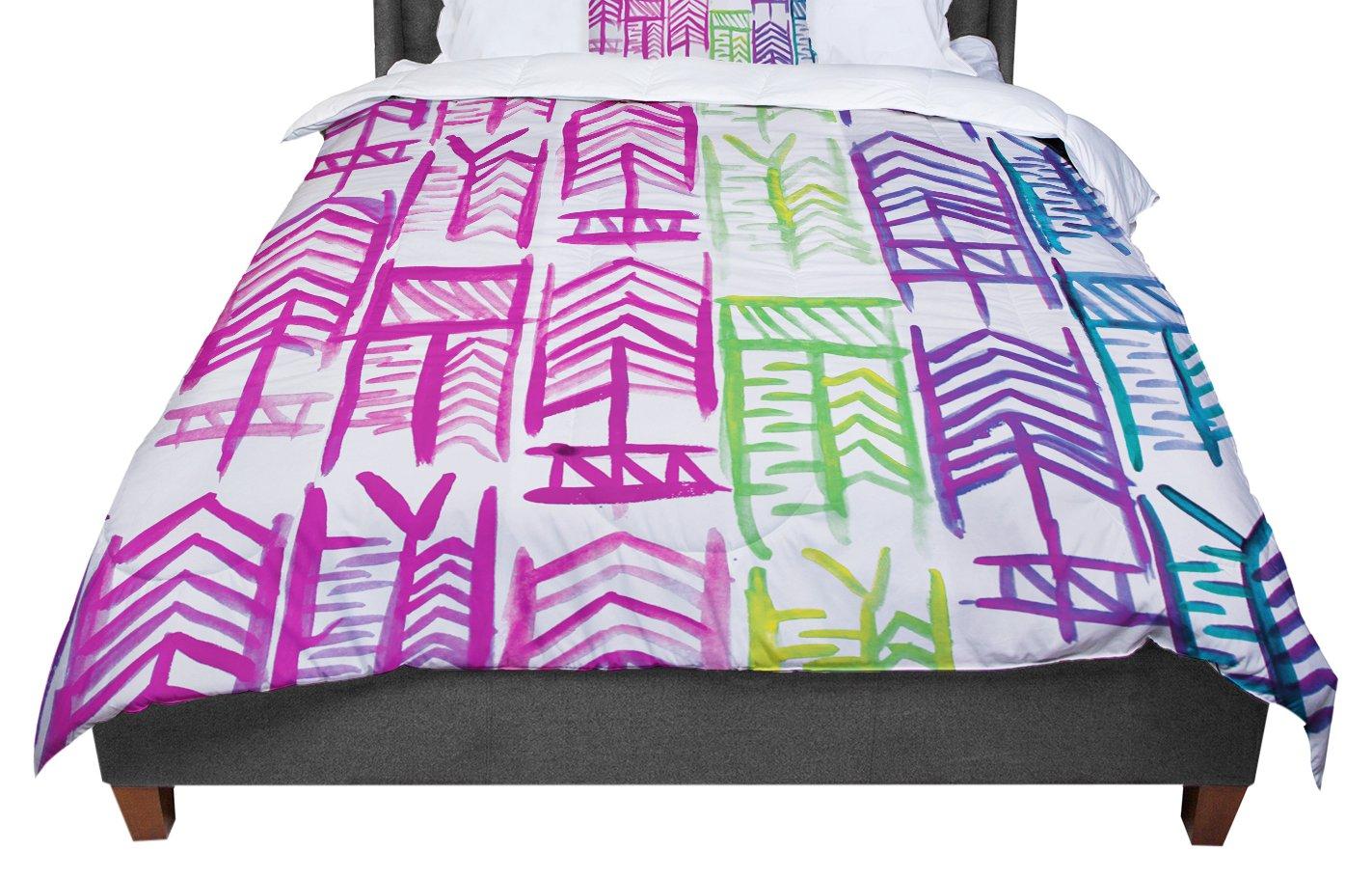 88 X 88 KESS InHouse Theresa Giolzetti Quiver III Queen Comforter
