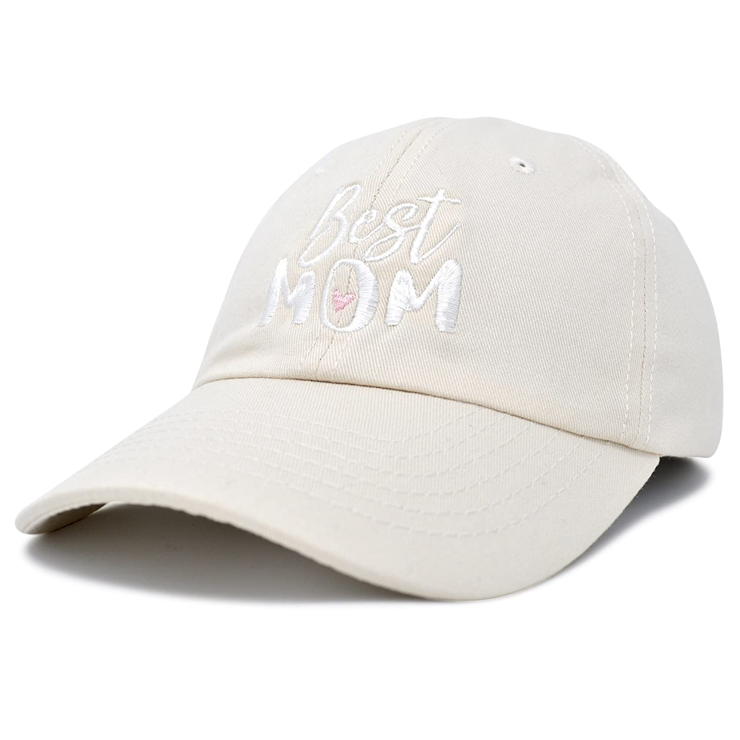 816b68d131b Amazon.com: DALIX Best Mom Baseball Cap Womens Dad Hats Adjustable Mothers  Day Hat Beige: Clothing