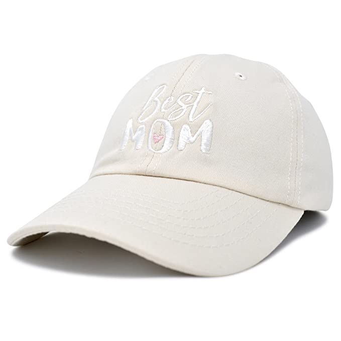 DALIX Best Mom Baseball Cap Womens Dad Hats Adjustable Mothers Day Hat Beige 0bff8a8ad5a