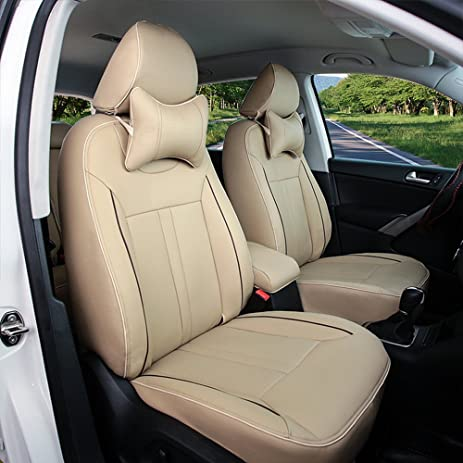 AutoDecorun All 3 Rows 7 Seats Automotive Exact Fit Seat Covers For Acura MDX PU Leather